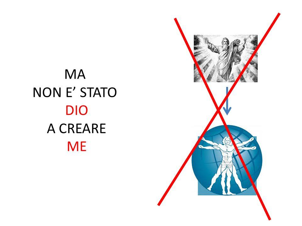MA NON E' STATO DIO A CREARE ME