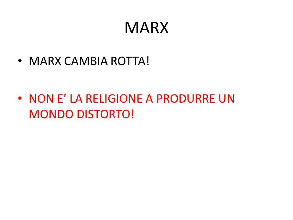 MARX MARX CAMBIA ROTTA! NON E' LA RELIGIONE A PRODURRE UN MONDO DISTORTO!