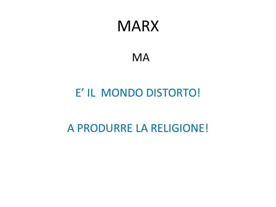 MARX MA E' IL MONDO DISTORTO! A PRODURRE LA RELIGIONE!