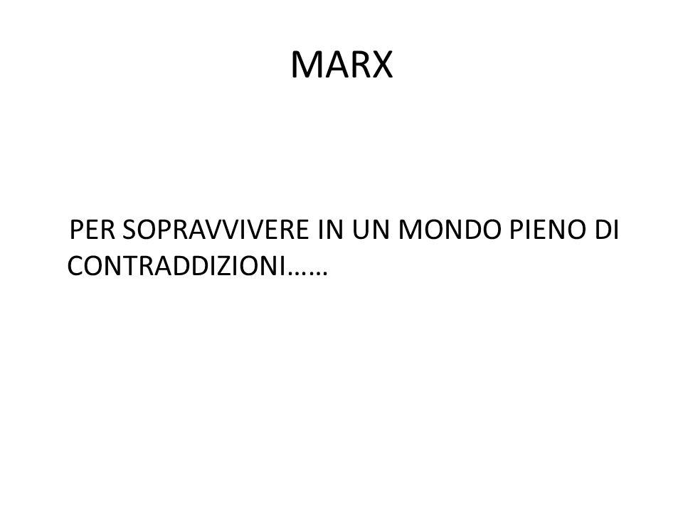 MARX PER SOPRAVVIVERE IN UN MONDO PIENO DI CONTRADDIZIONI……