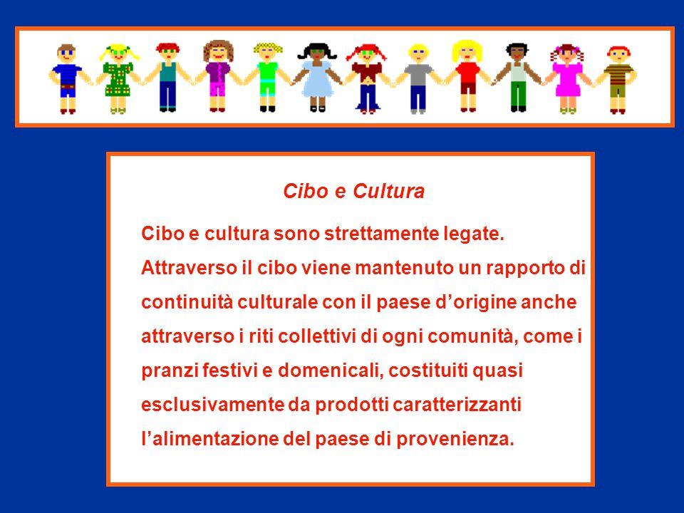 Cibo e Cultura Cibo e cultura sono strettamente legate.