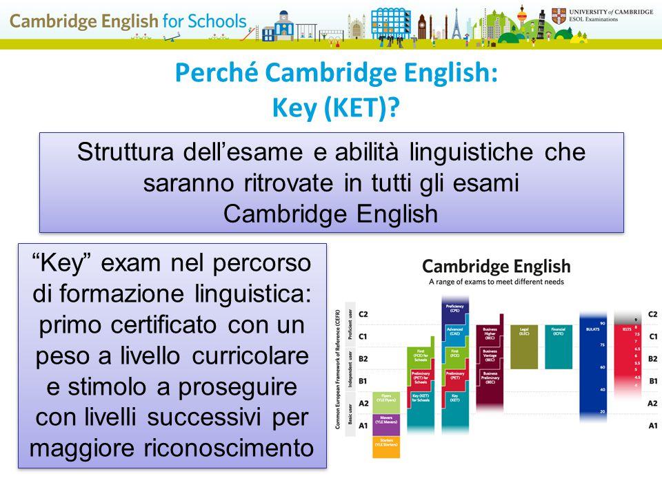 Struttura dell'esame e abilità linguistiche che saranno ritrovate in tutti gli esami Cambridge English Struttura dell'esame e abilità linguistiche che