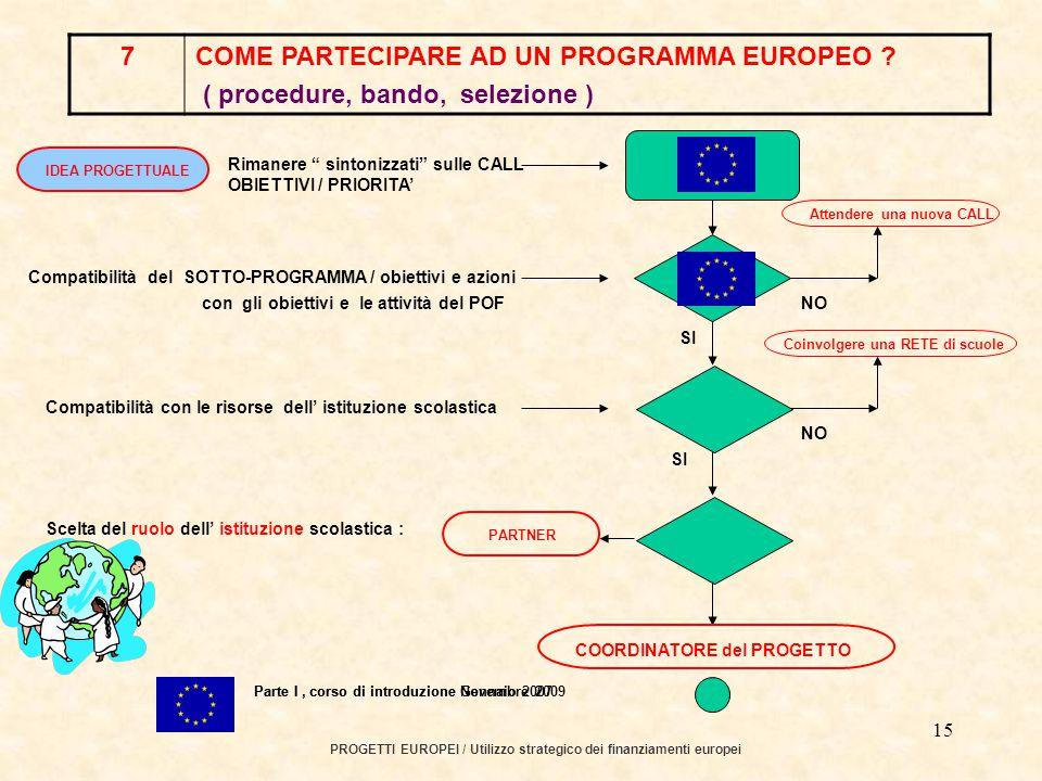 14 PROGETTI EUROPEI / Utilizzo strategico dei finanziamenti europei.