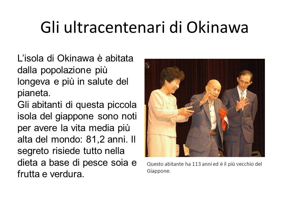 Gli ultracentenari di Okinawa L'isola di Okinawa è abitata dalla popolazione più longeva e più in salute del pianeta.