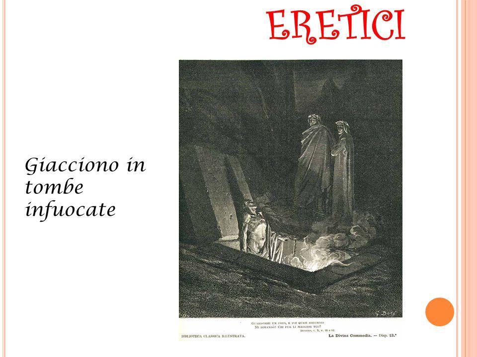 ERETICI Giacciono in tombe infuocate
