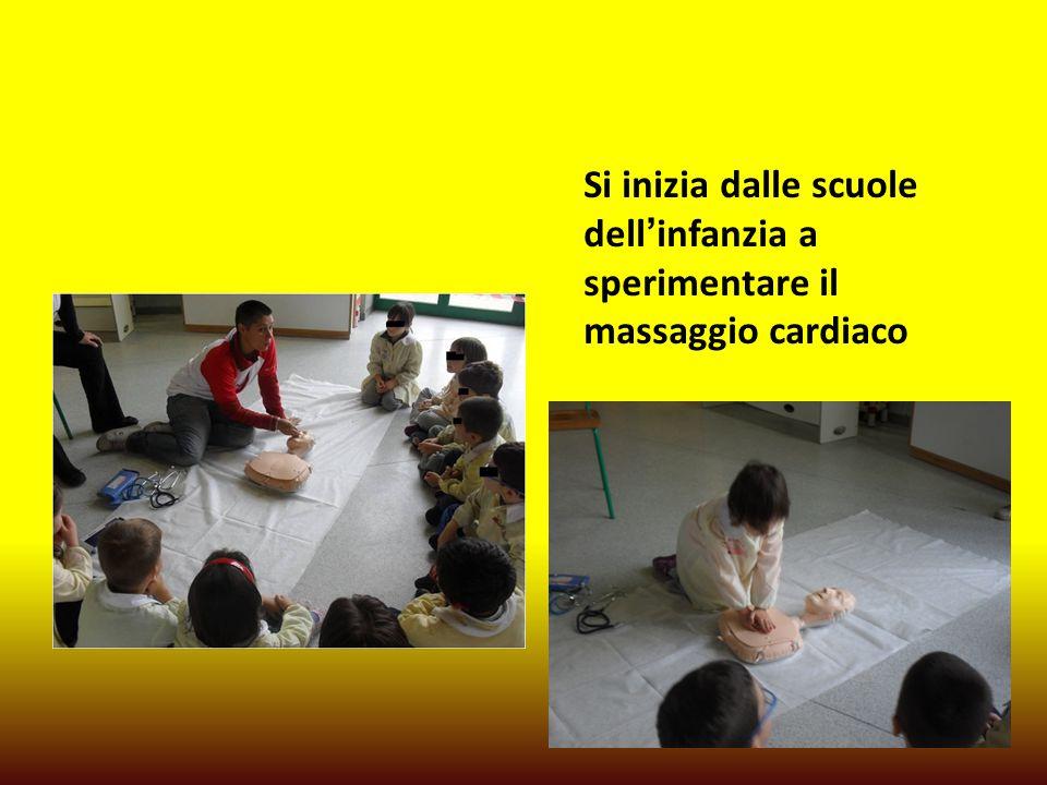Si inizia dalle scuole dell'infanzia a sperimentare il massaggio cardiaco