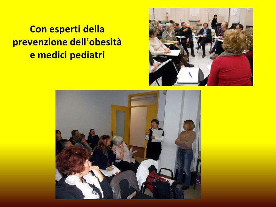 Con esperti della prevenzione dell'obesità e medici pediatri
