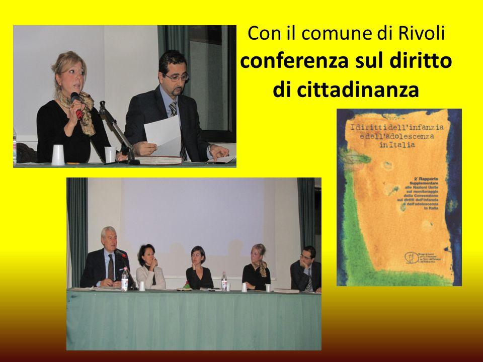 Con il comune di Rivoli conferenza sul diritto di cittadinanza