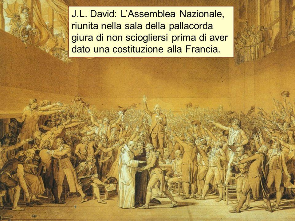 s J.L. David: L'Assemblea Nazionale, riunita nella sala della pallacorda giura di non sciogliersi prima di aver dato una costituzione alla Francia.