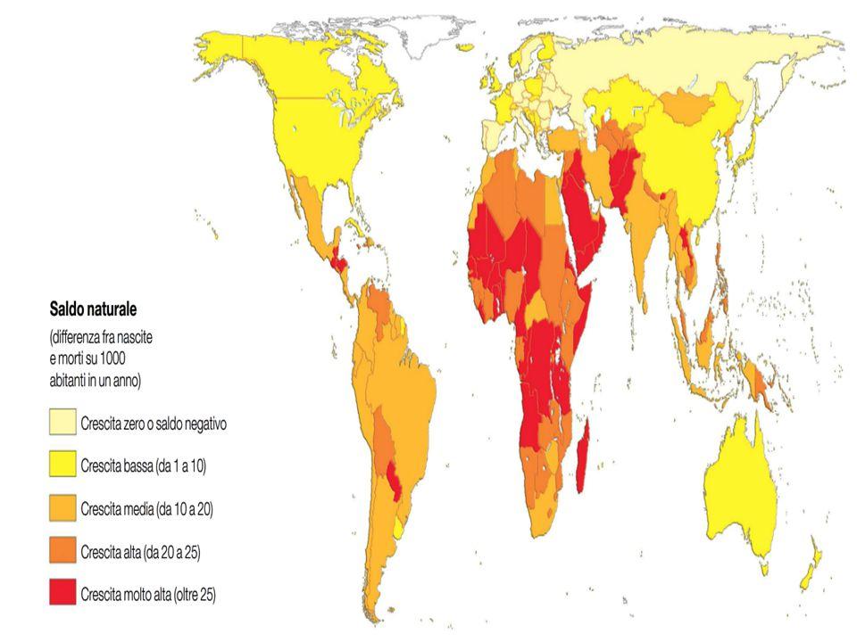 La distribuzione della popolazione nei continenti Dal 1800 a oggi possiamo osservare come l'Asia abbia sempre raccolto più della metà della popolazione mondiale, mentre tra il 1800 e il 1950 sia aumentata la percentuale in America e negli ultimi 50 anni in Africa.