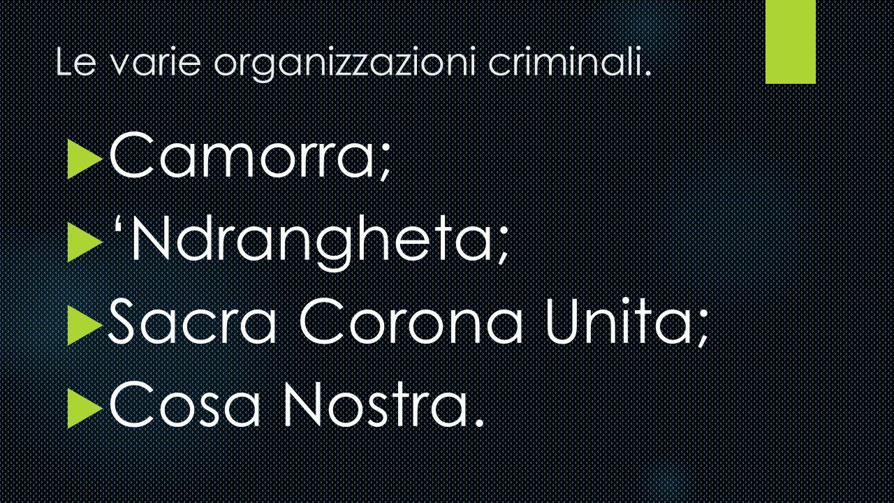 Gli affari.  La Mafia si occupa di gestire i propri guadagno con ordine e i mafiosi tengono molto ai soldi. Nelle casse delle principali mafie girano