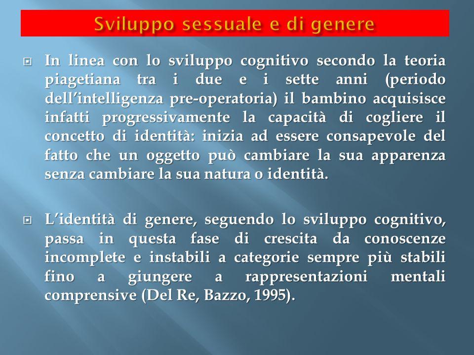  In linea con lo sviluppo cognitivo secondo la teoria piagetiana tra i due e i sette anni (periodo dell'intelligenza pre-operatoria) il bambino acqui
