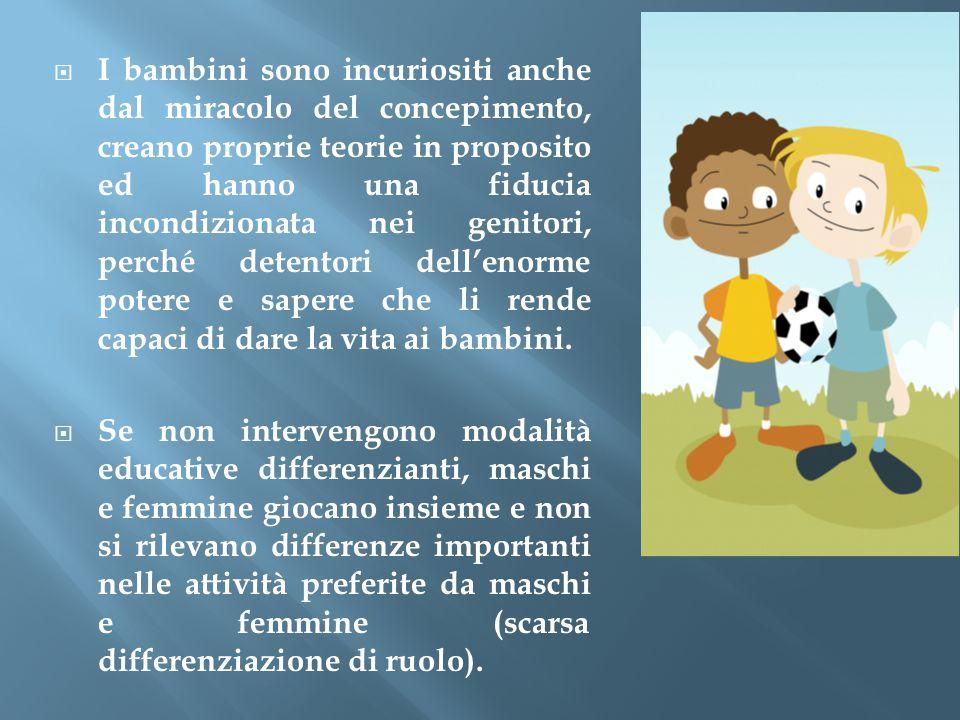  I bambini sono incuriositi anche dal miracolo del concepimento, creano proprie teorie in proposito ed hanno una fiducia incondizionata nei genitori,