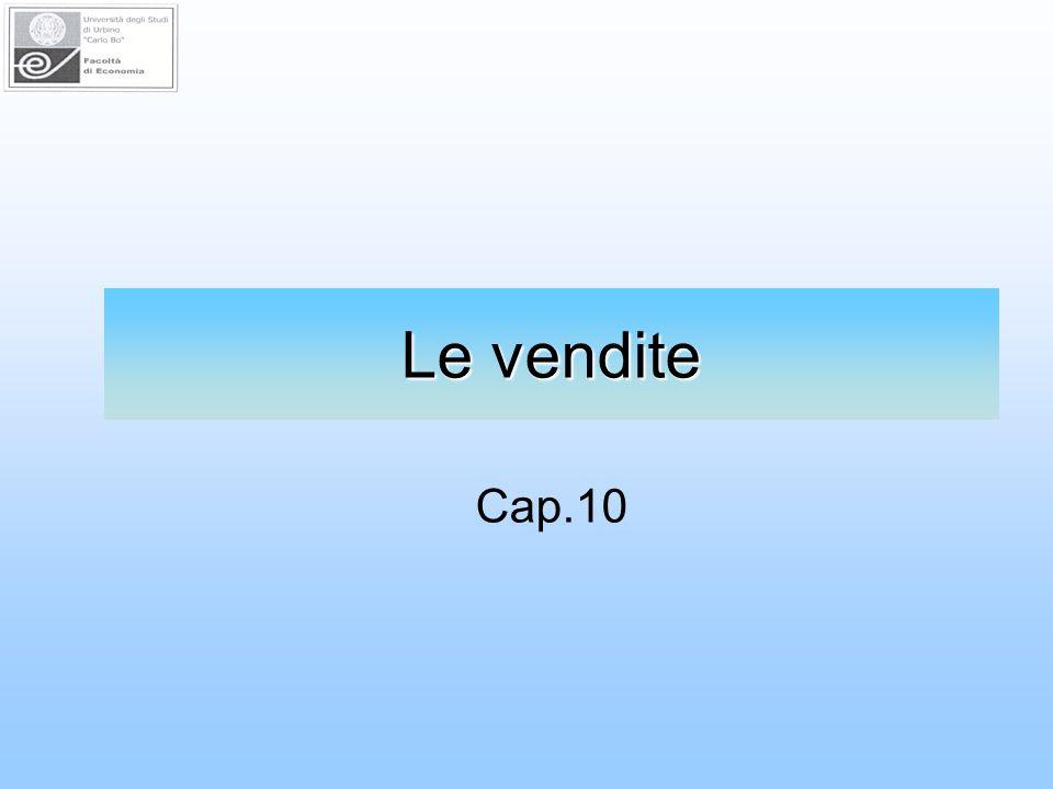 Le vendite Cap.10