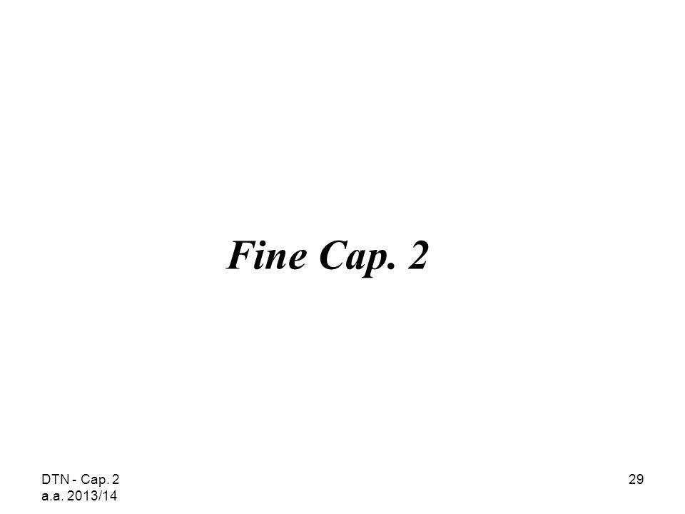 DTN - Cap. 2 a.a. 2013/14 29 Fine Cap. 2