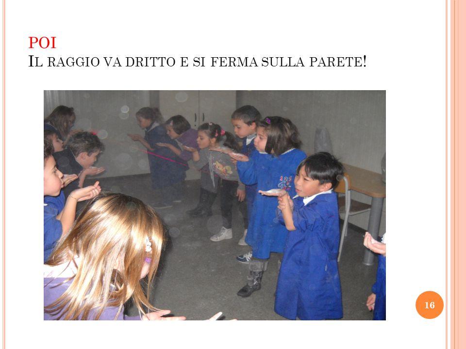 POI I L RAGGIO VA DRITTO E SI FERMA SULLA PARETE ! 16