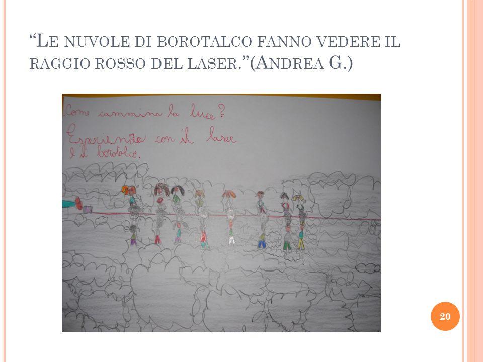 L E NUVOLE DI BOROTALCO FANNO VEDERE IL RAGGIO ROSSO DEL LASER. (A NDREA G.) 20