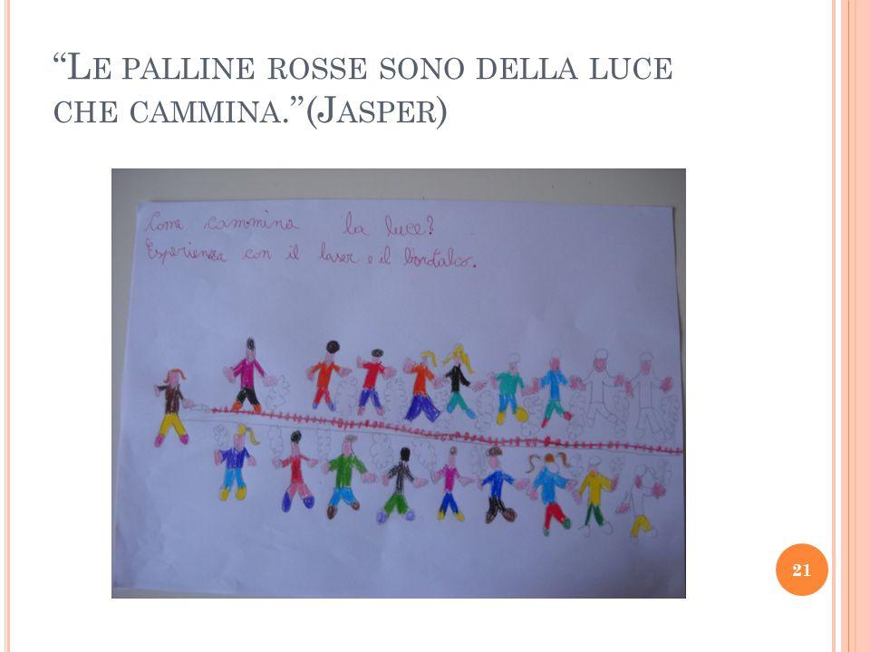 L E PALLINE ROSSE SONO DELLA LUCE CHE CAMMINA. (J ASPER ) 21