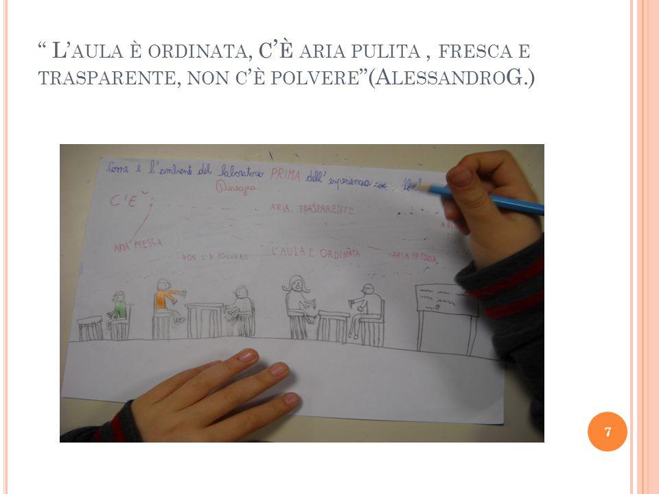 L' AULA È ORDINATA, C ' È ARIA PULITA, FRESCA E TRASPARENTE, NON C ' È POLVERE (A LESSANDRO G.) 7