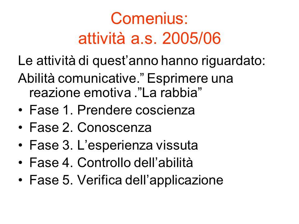 Comenius: attività a.s.