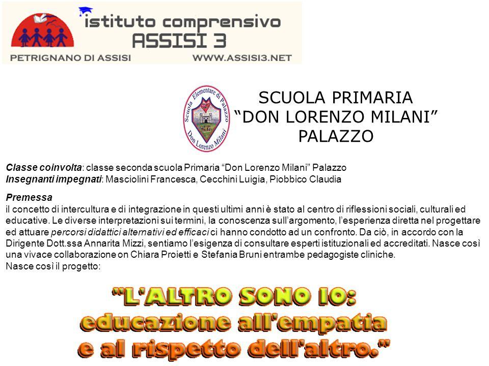 """SCUOLA PRIMARIA """"DON LORENZO MILANI"""" PALAZZO Classe coinvolta: classe seconda scuola Primaria """"Don Lorenzo Milani"""" Palazzo Insegnanti impegnati: Masci"""