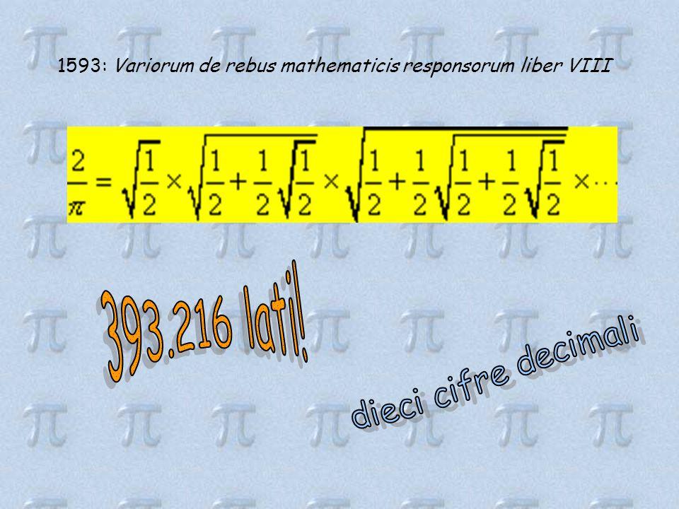 1593: Variorum de rebus mathematicis responsorum liber VIII