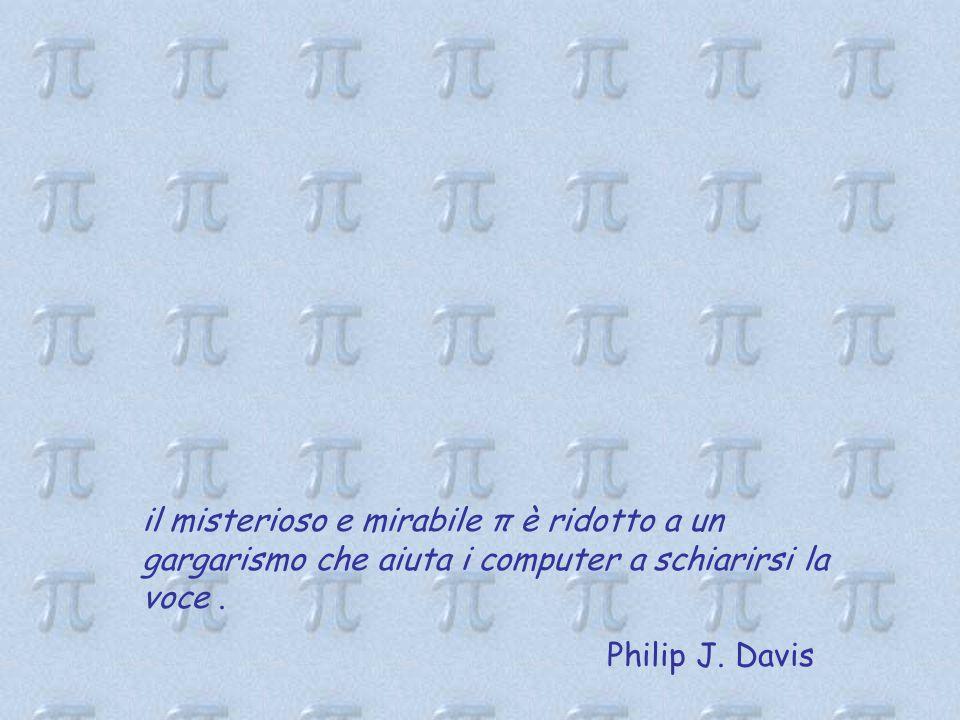 il misterioso e mirabile π è ridotto a un gargarismo che aiuta i computer a schiarirsi la voce.