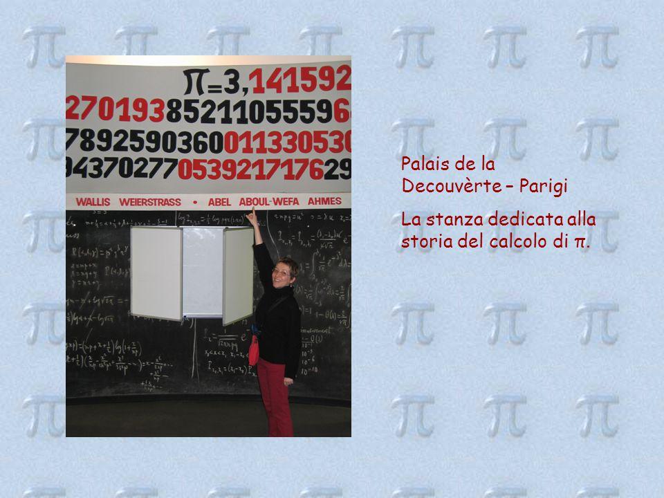 Palais de la Decouvèrte – Parigi La stanza dedicata alla storia del calcolo di π.