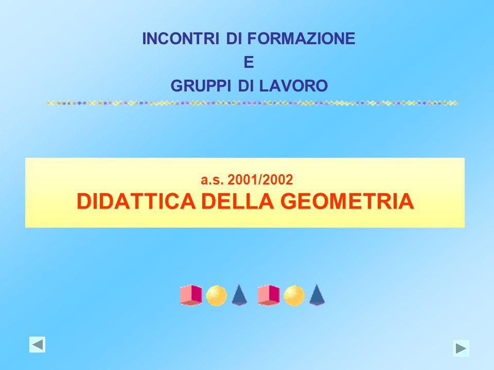 a.s. 2001/2002 DIDATTICA DELLA GEOMETRIA INCONTRI DI FORMAZIONE E GRUPPI DI LAVORO
