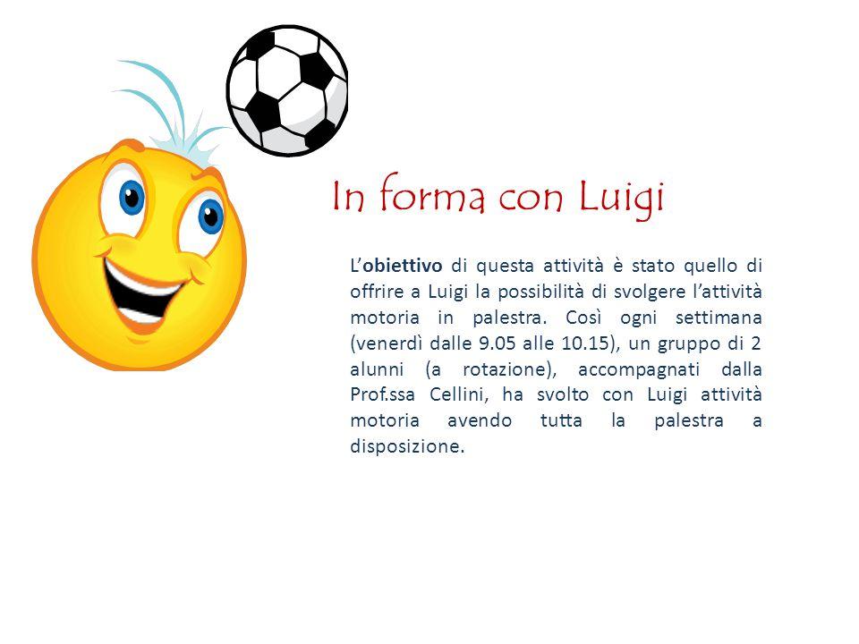 In forma con Luigi L'obiettivo di questa attività è stato quello di offrire a Luigi la possibilità di svolgere l'attività motoria in palestra.