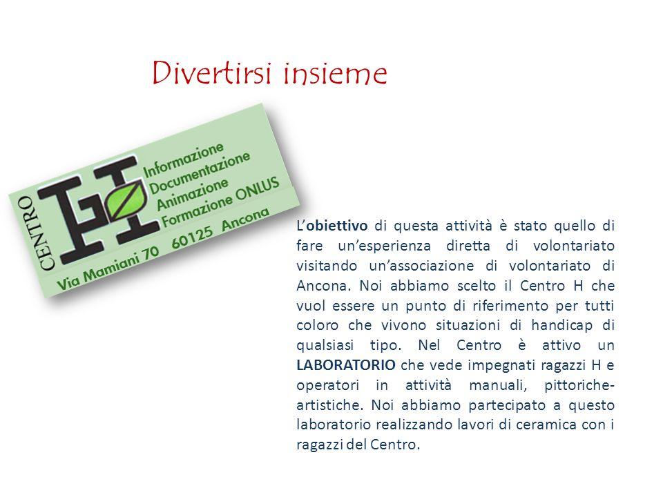 L'obiettivo di questa attività è stato quello di fare un'esperienza diretta di volontariato visitando un'associazione di volontariato di Ancona.