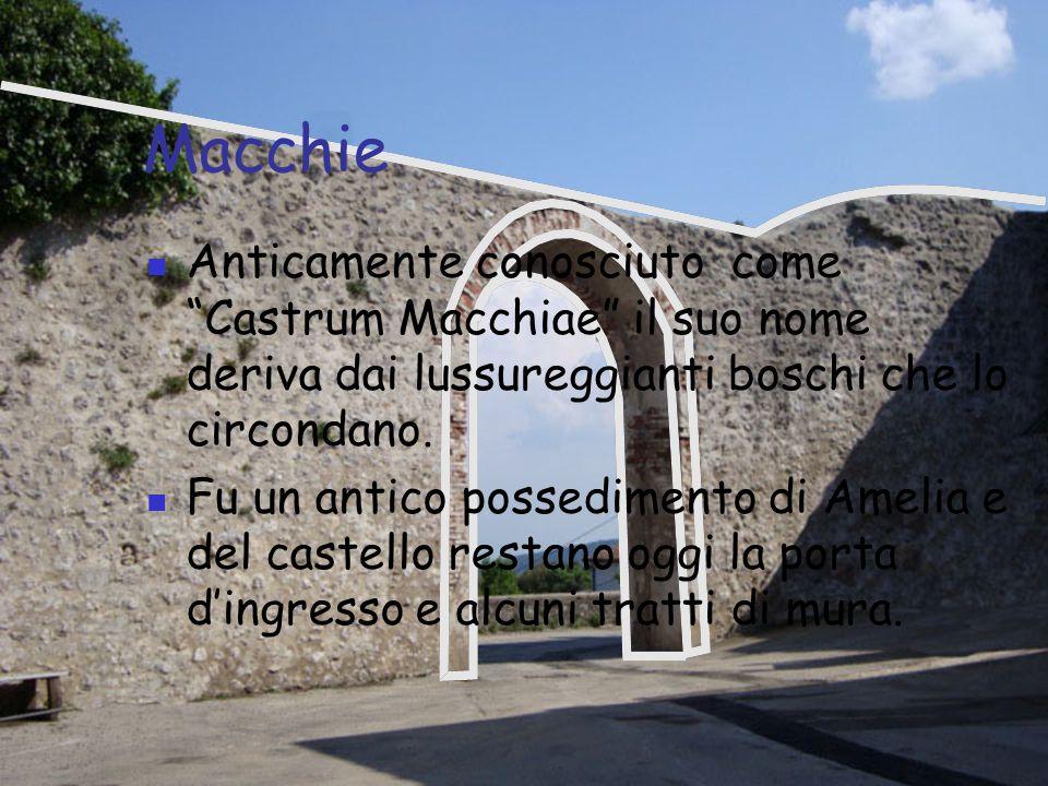 Sambucetole Con la sua forma ad esagono, tipica dei castelli costruiti sulle alture, sorge su un colle vicino ad Amelia.