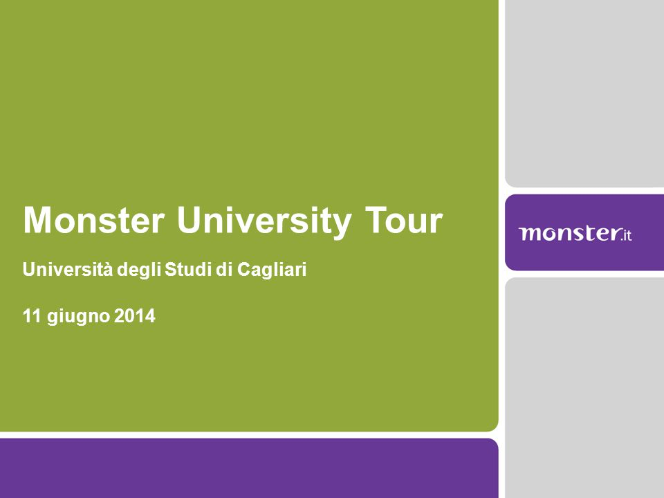 Monster University Tour Università degli Studi di Cagliari 11 giugno 2014