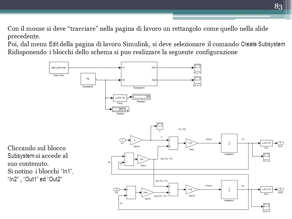 """83 Con il mouse si deve """"tracciare"""" nella pagina di lavoro un rettangolo come quello nella slide precedente. Poi, dal menu Edit della pagina di lavoro"""