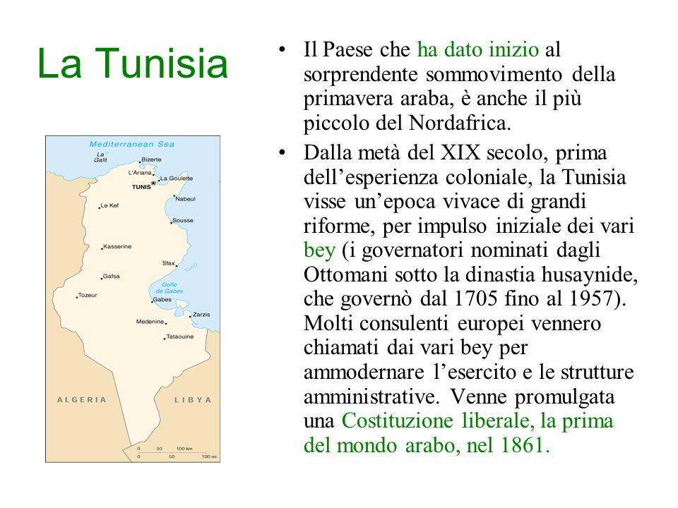 La Tunisia Il Paese che ha dato inizio al sorprendente sommovimento della primavera araba, è anche il più piccolo del Nordafrica.