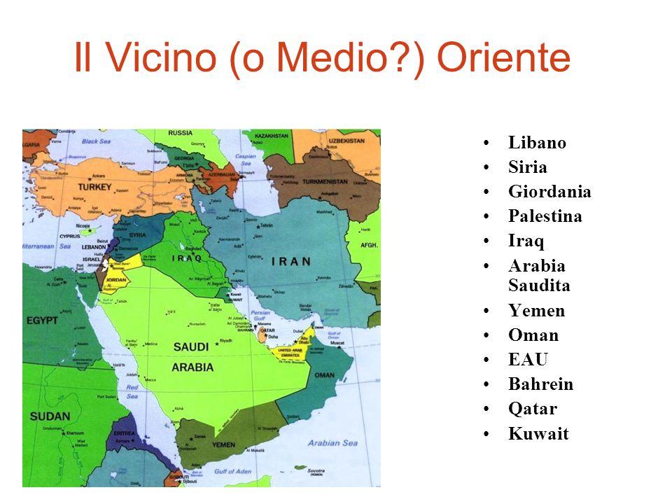 Gli Stati del Golfo Persico ( Bahrein, Kuwait, E.A.U., Oman, Qatar)