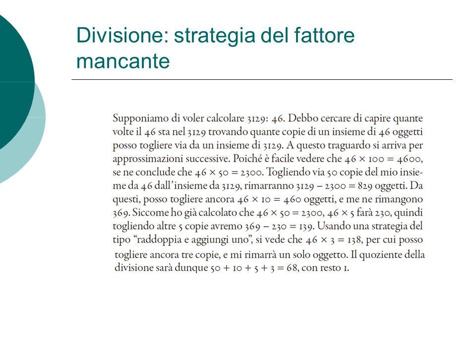 Divisione: strategia del fattore mancante