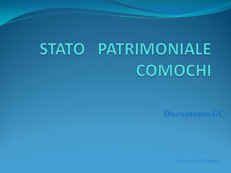 Domanda 1 Lo Stato Patrimoniale al 1.1.2009 della Comochi spa fornisce una serie di informazioni relative al capitale della società.