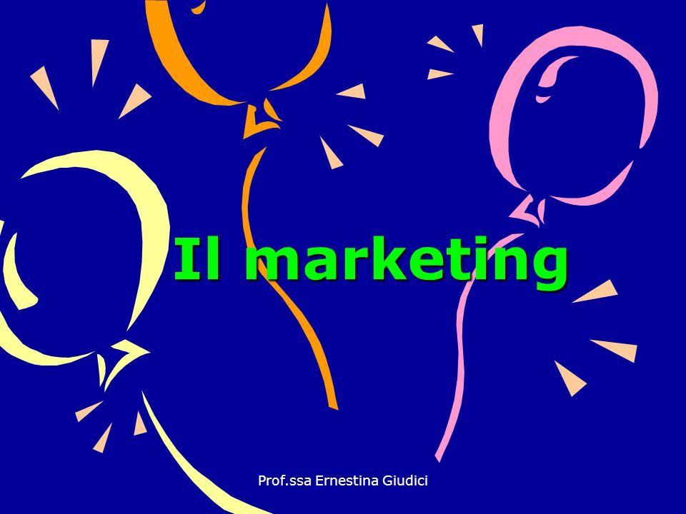 Prof.ssa Ernestina Giudici Il marketing