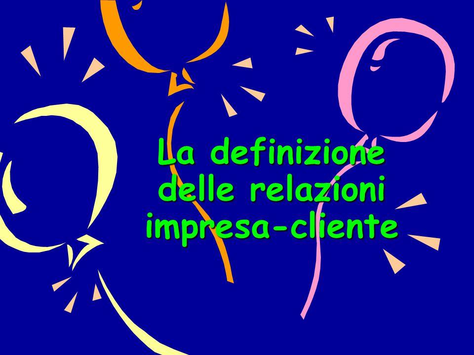 La definizione delle relazioni impresa-cliente