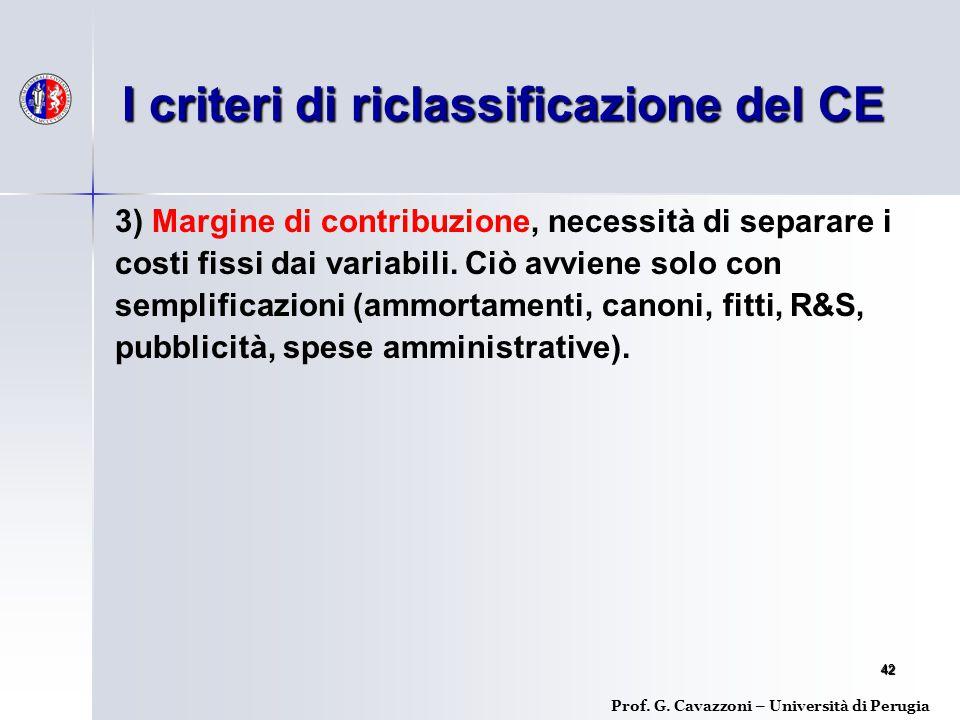 4242 3) Margine di contribuzione, necessità di separare i costi fissi dai variabili.