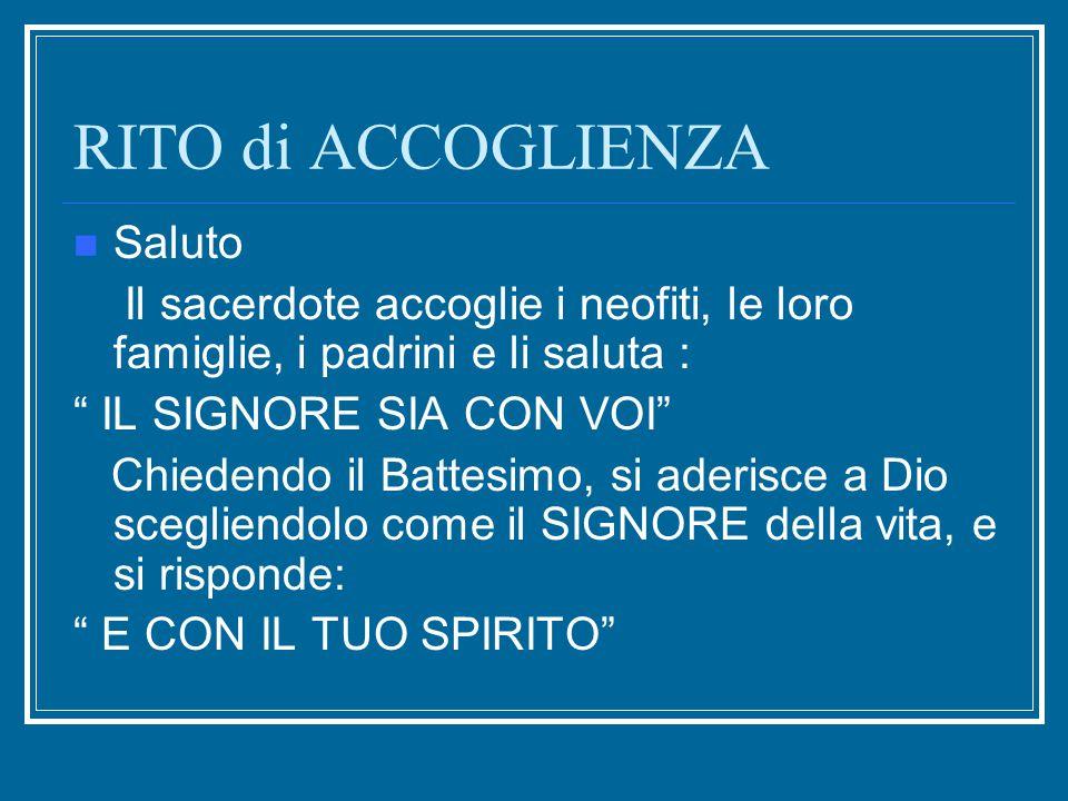 RITO di ACCOGLIENZA CHE NOME DATE AL VOSTRO BAMBINO.