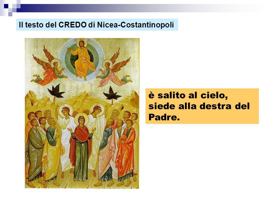 è salito al cielo, siede alla destra del Padre. Il testo del CREDO di Nicea-Costantinopoli