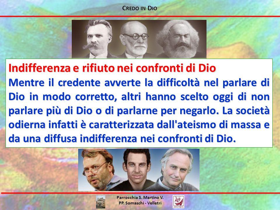 C REDO IN D IO Parrocchia S.Martino V. PP. Somaschi - Velletri -Che senso ha la nostra vita.
