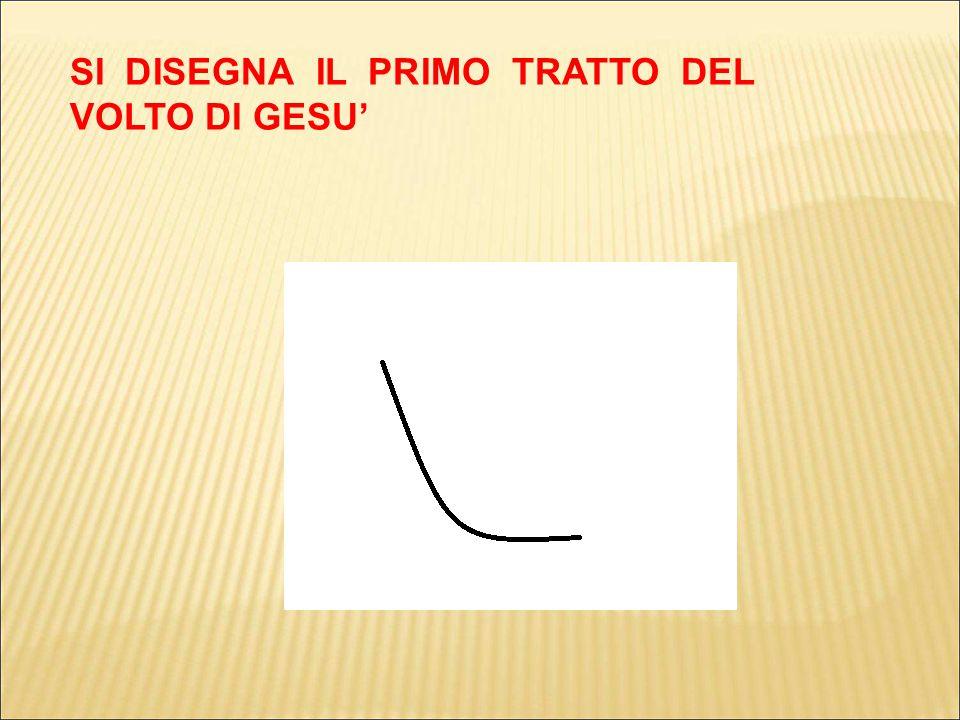 SI DISEGNA IL PRIMO TRATTO DEL VOLTO DI GESU'