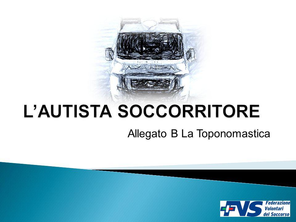 Allegato B La Toponomastica
