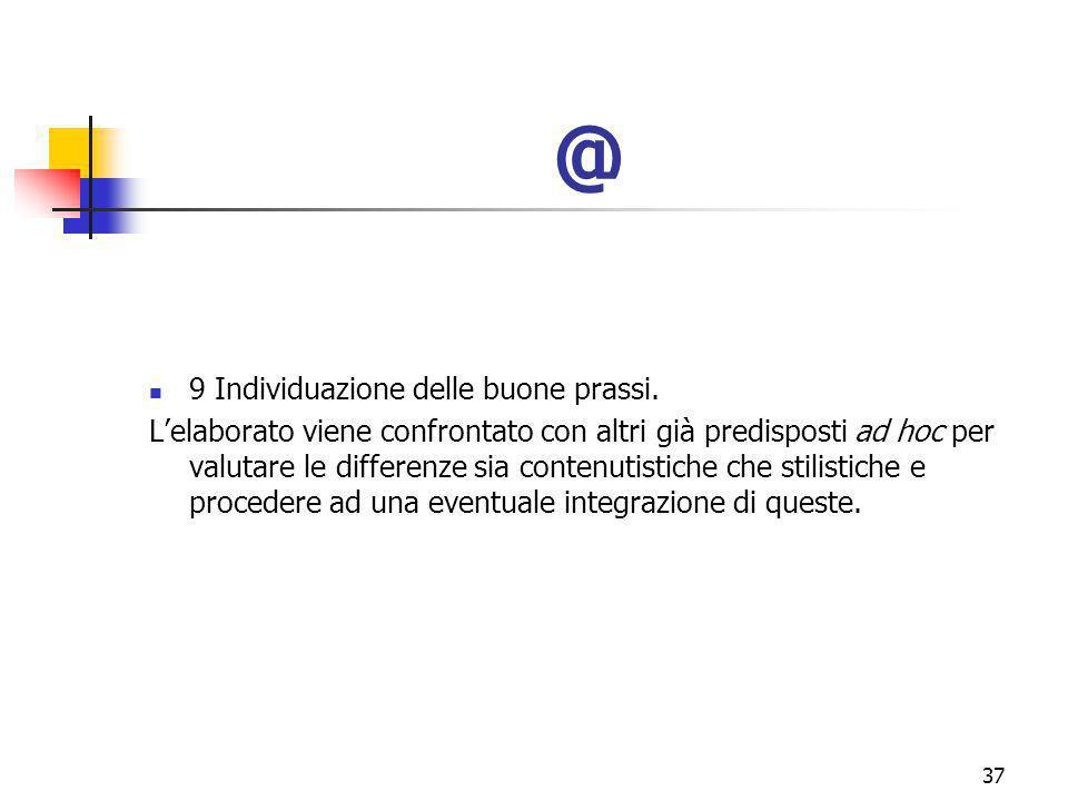marcoguspini@tiscali.it37 @ 9 Individuazione delle buone prassi.