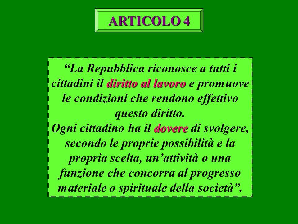 """diritto al lavoro """"La Repubblica riconosce a tutti i cittadini il diritto al lavoro e promuove le condizioni che rendono effettivo questo diritto. dov"""
