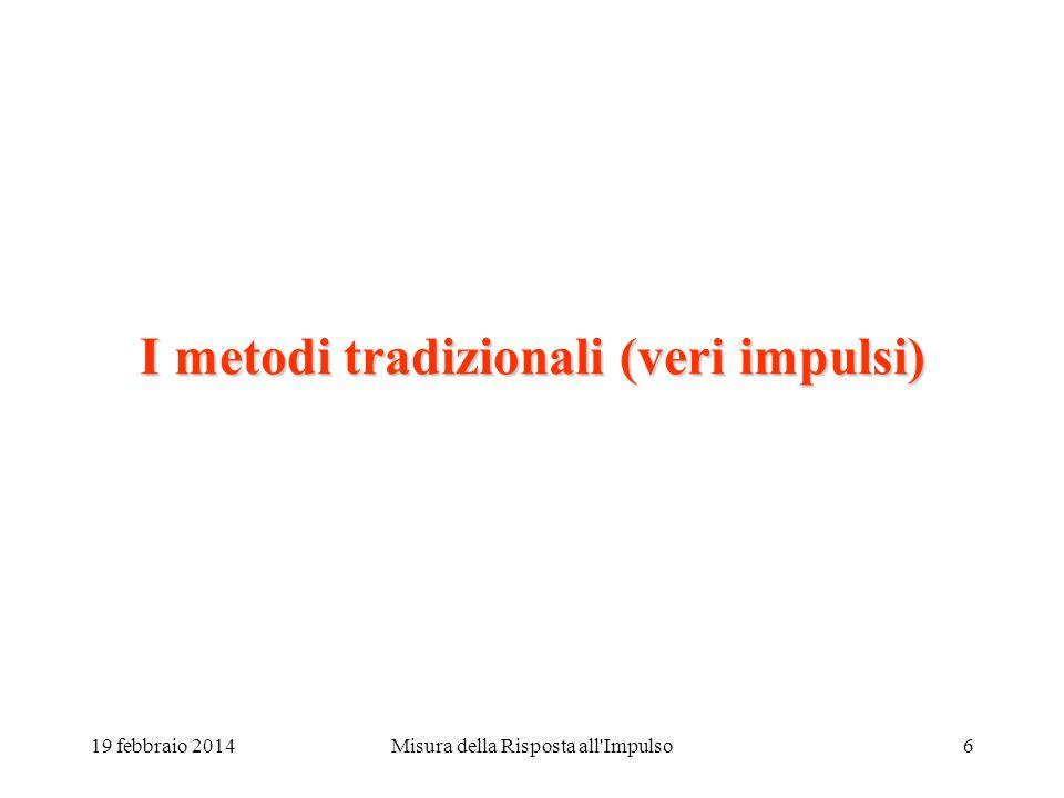 Misura della Risposta all'Impulso5 La Risposta Impulsiva 19 febbraio 2014