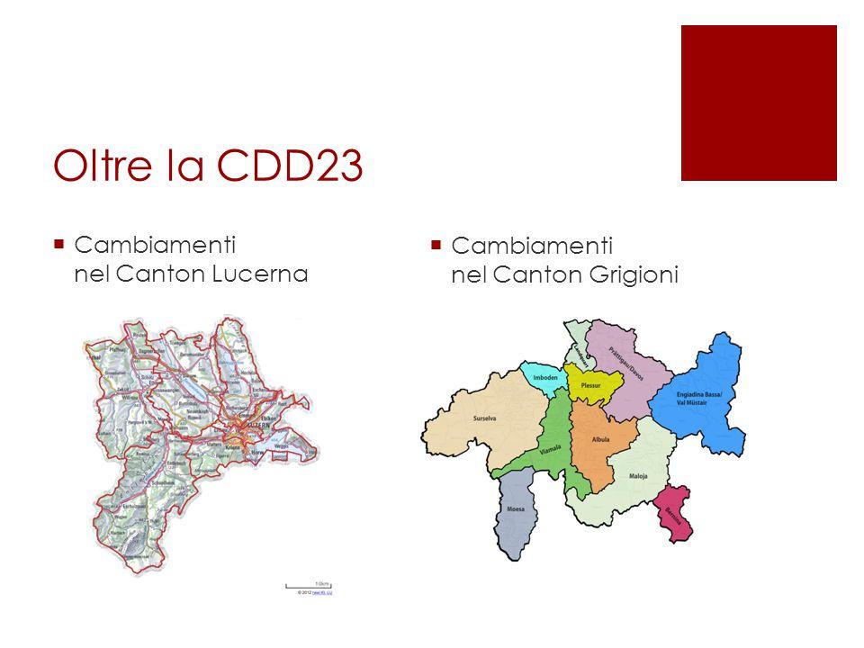 Oltre la CDD23  Cambiamenti nel Canton Lucerna  Cambiamenti nel Canton Grigioni